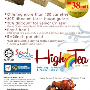 Buffet High Tea Every Saturday, Sunday & Public Holiday