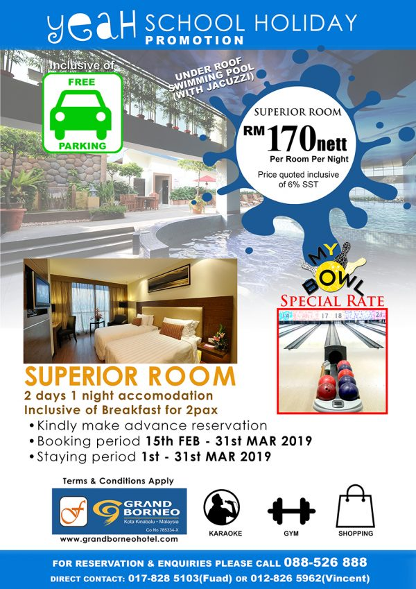 School Holiday Promotion Superior Room