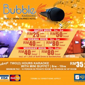grand borneo hotel kota kinabalu bubble room karaoke