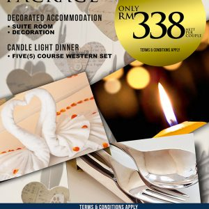 Anniversary Package Candle Light Dinner
