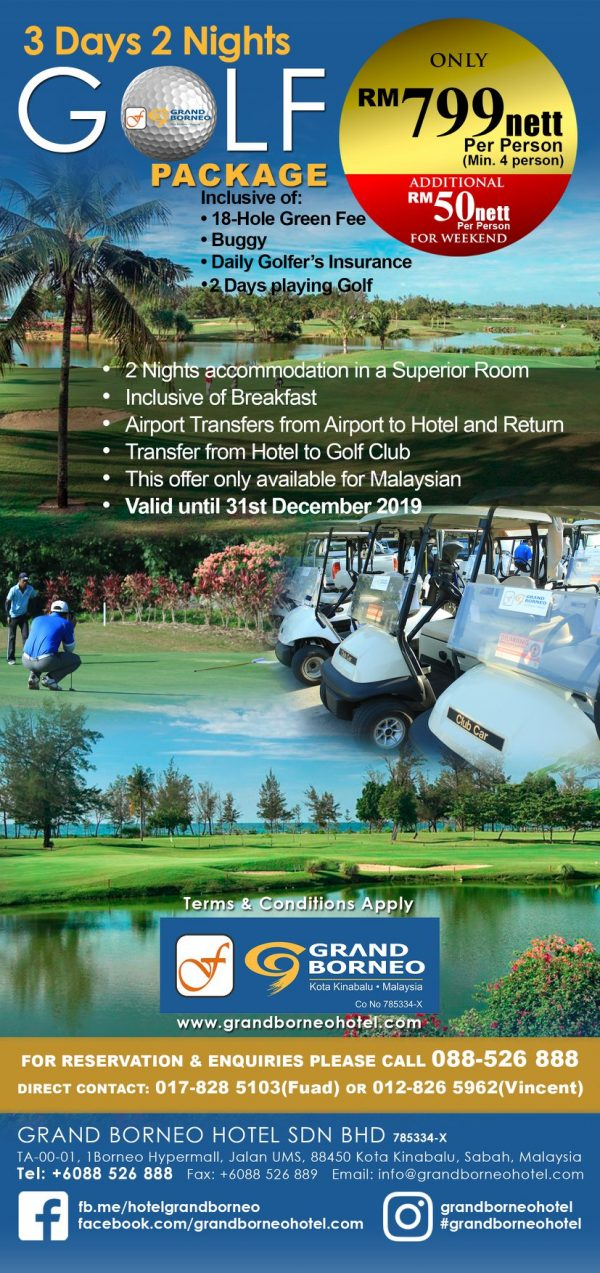 Golf package 2 Days playing golf