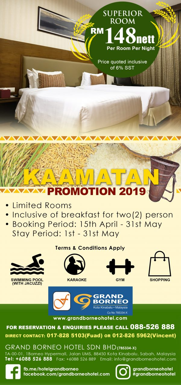 Kaamatan superior room promotion