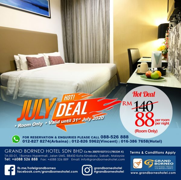 JULY HOTDEAL room promo deal